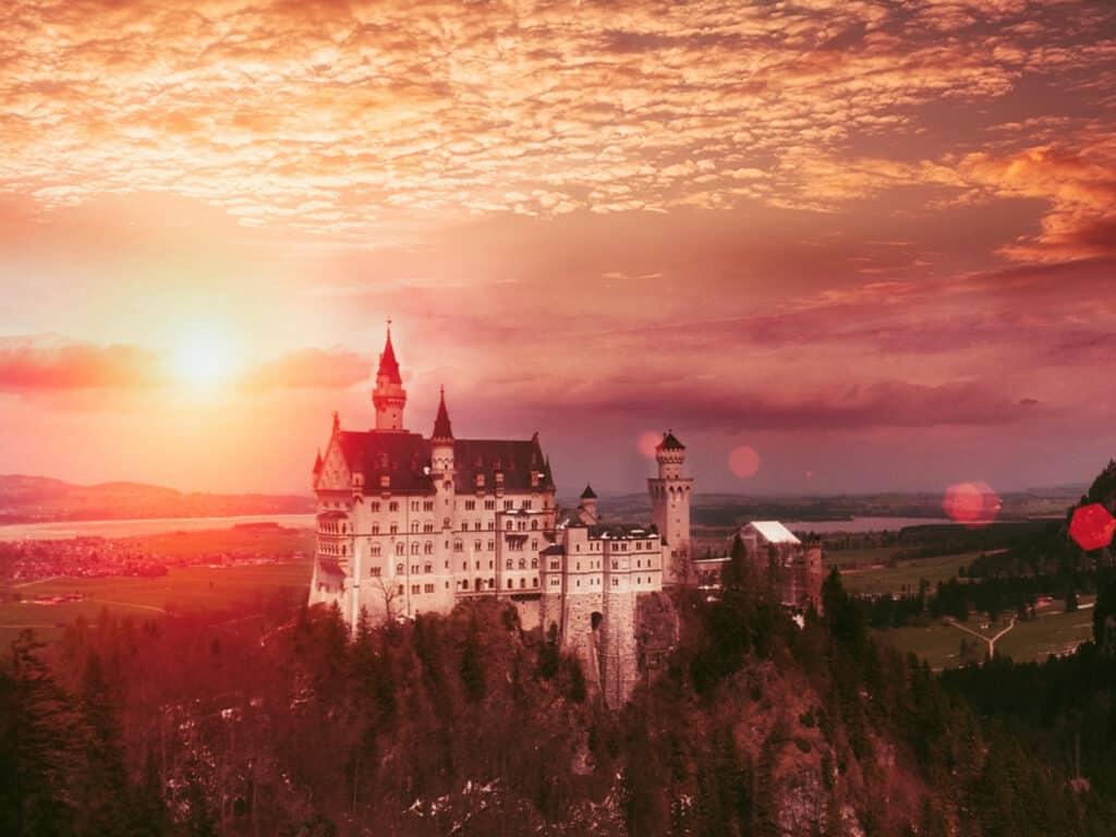 Neuschwanstein castle as film location